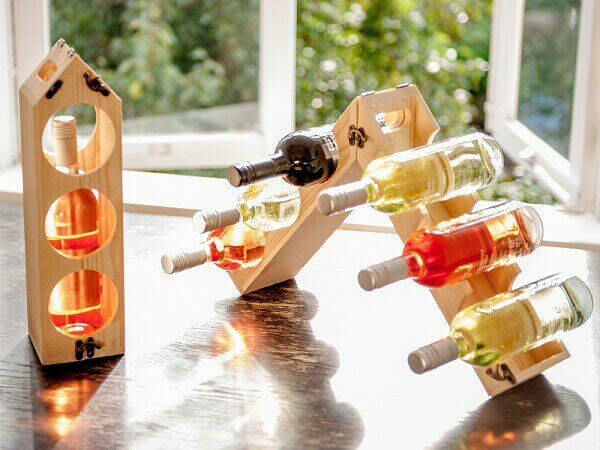 Ajándék férfiaknak átalakítható bortartó
