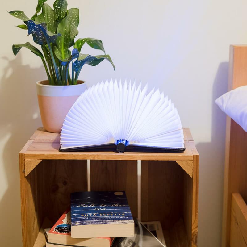 Könyv lámpa olvasáshoz kinyitva